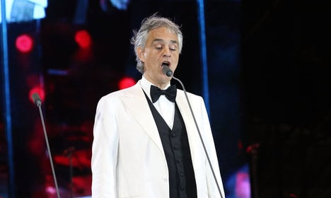 Bocelli crashes wedding with Ave Maria rendition