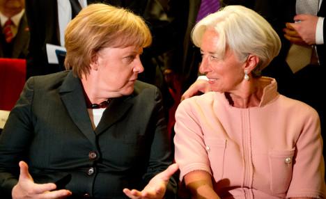 Merkel combats doubts about IMF in Greek deal