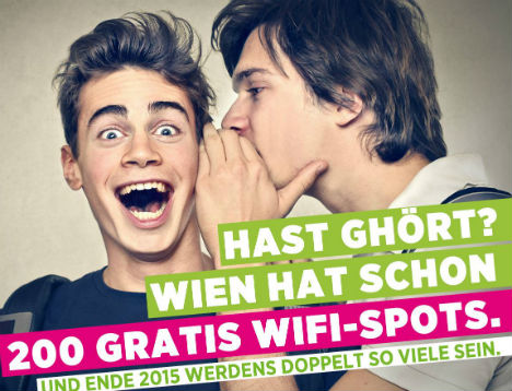 10,000 users a week for Vienna Wi-Fi hotspots