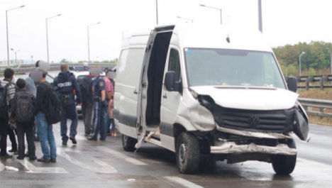 Six injured in migrant smuggling van crash