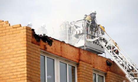 Homes evacuated after huge Gothenburg fire