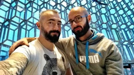 Italian couple tie the knot at Swedish Pride festival