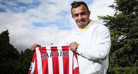 Shaqiri joins UK Premier League's Stoke City