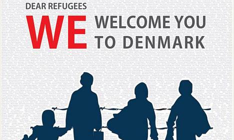 Danes publish pro-refugee advertisement