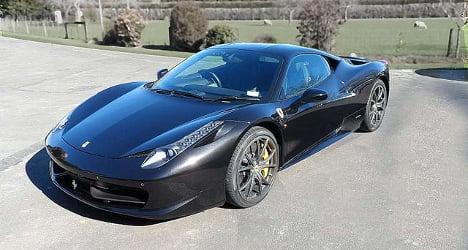 Rich Swiss youth burns Ferrari in fraud attempt