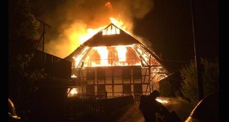 Lightning bolt ignites fire that destroys farmhouse