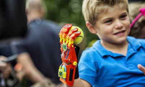 Boy receives 3D-printed hand in French first