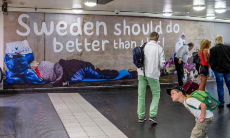 Swedish bus firm snubs anti-begging campaign