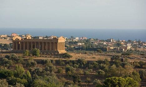 Blaze damages ancient Italian Unesco site