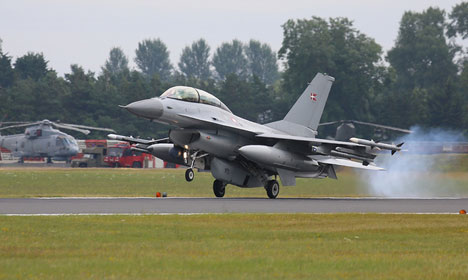 Danish air force to fly through Russian skies