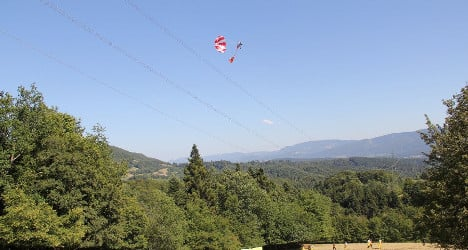 Paraglider trapped in power line drama