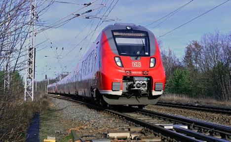 Railway sunbather brings trains to a halt
