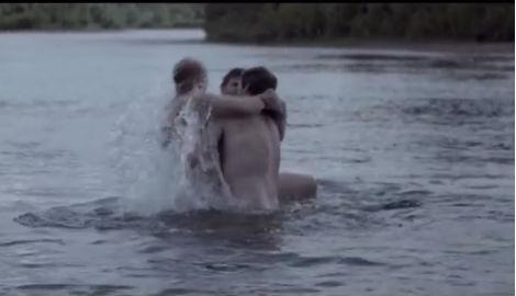 Norway men wrestle naked in freezing water