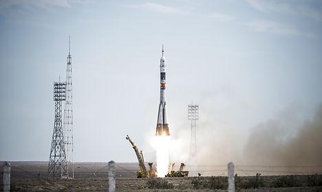 VIDEO: Danish astronaut launched into orbit