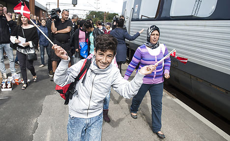 5,000 refugees came to Denmark in one week