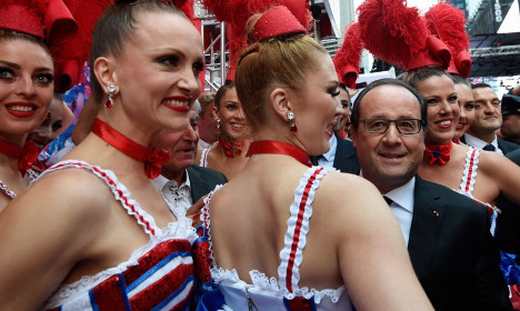 Hollande made to feel at home on Broadway