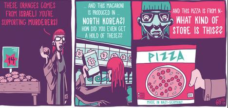 Israel protests Norway 'Nazi pizza' cartoon