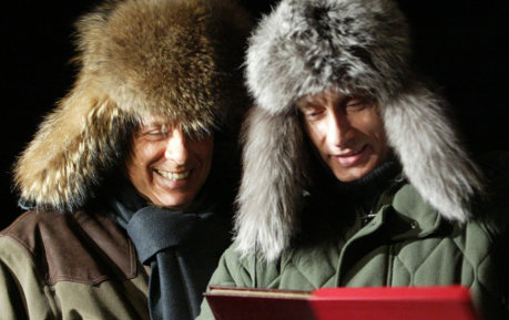 Old pals Berlusconi and Putin reunite in Crimea