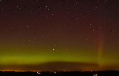 VIDEO: Rare Northern Lights seen in Denmark