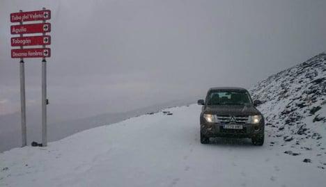 Brr! Spain records first snowfall of season high in the Sierra Nevada