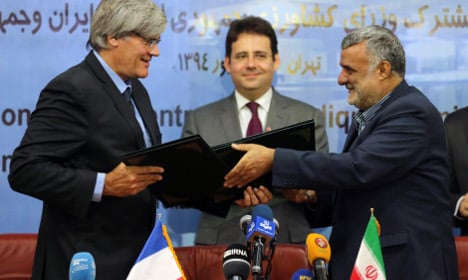 France enters battle to win business in Iran