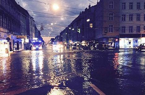 Floridsdorf chaos after broken water pipe