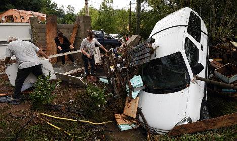Floods leave damage across southern France