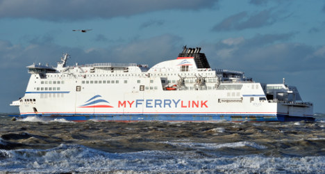 Protesting French ferry workers ransack boat
