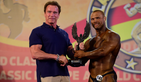 Arnie wannabes compete for first prize in Madrid bodybuilding fest
