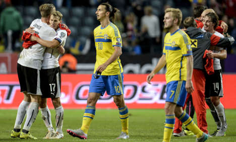 Swedes lose Euro 2016 clash with Austria