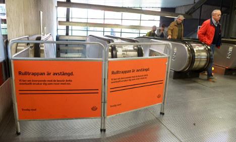 Second woman stuck in Stockholm escalator