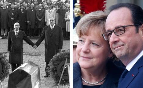 Merkel and Hollande plan 'historic' joint speech