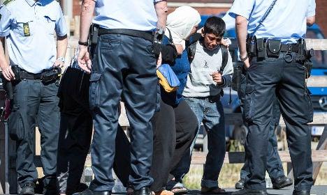 Refugees step up push to Sweden via Denmark