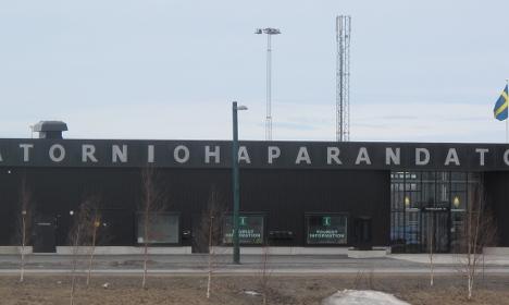 Refugee protests on Sweden-Finland border