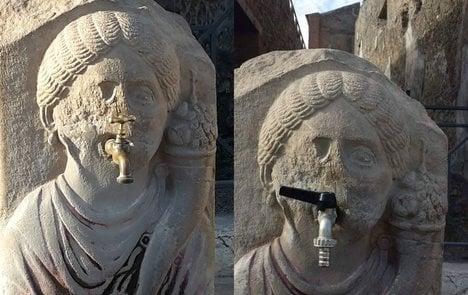 Pompeii's tasteless taps spark online revolt