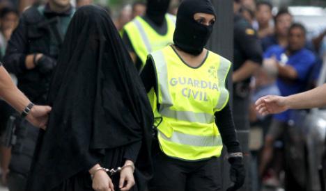 Spain arrests 'Syria-bound' teenage girl who preached jihad online