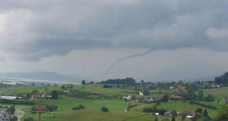 Autumn brings rare 'tornado' to Lake Zurich