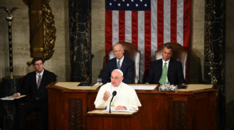 Pope takes climate change plea to Congress