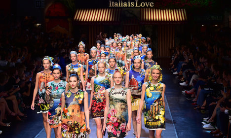 D&G fly the flag for Italy and sensuality