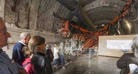 Public tours Geneva rail mega-project work sites