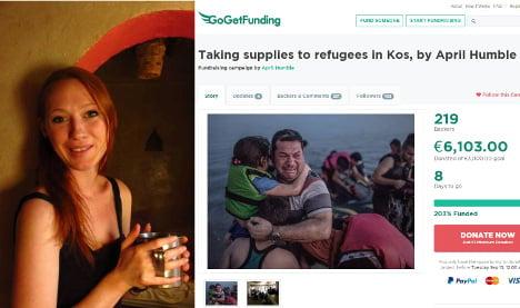 Berlin Brit raises €6k to aid refugees on Kos