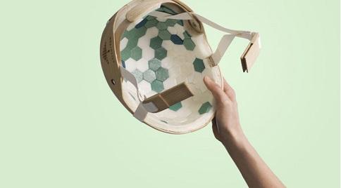The new Swedish helmet made of wood