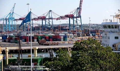 Pair caught 'trespassing' in Gothenburg port