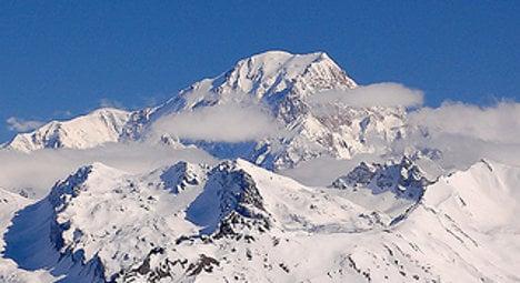 France's highest peak Mont Blanc shrinks