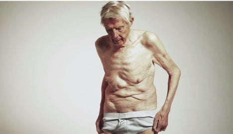 Old man strips naked for Norway care campaign