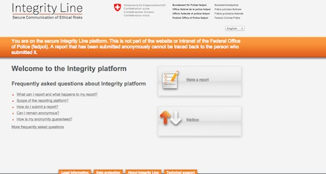 Bern launches anti-corruption website