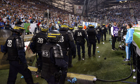 Marseille hit with stadium ban after crowd violence