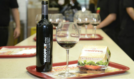 Full bodied, flame grilled: Burger King chain launches Whopper Wine