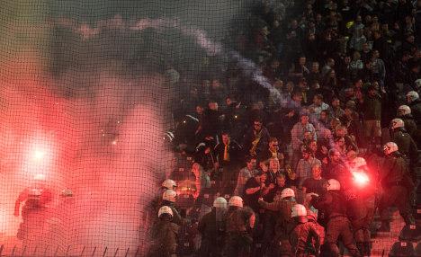 Dortmund fans 'cross the line' in Thessaloniki