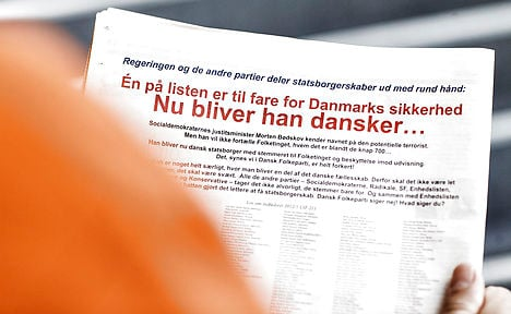 Danish People's Party defamed new citizens